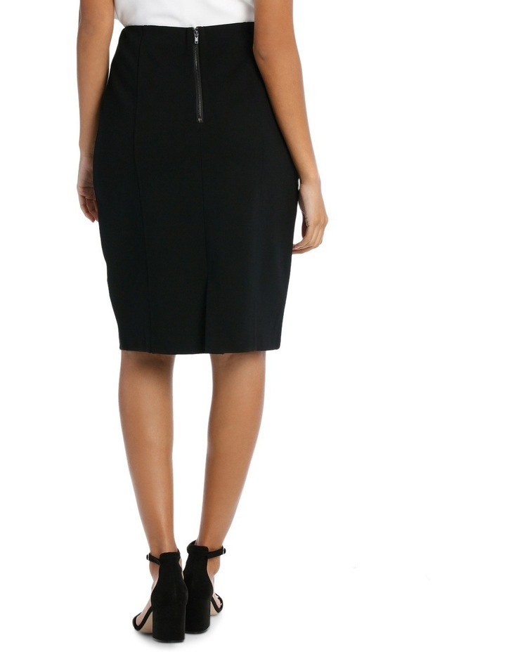 Panelled Ponte Skirt image 3