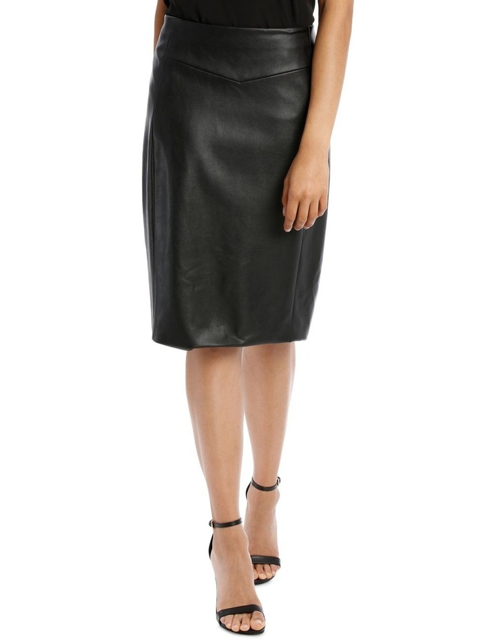 Pu Fitted Skirt image 1