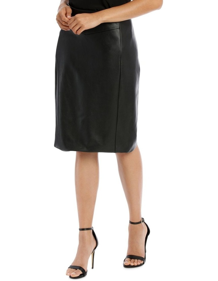 Pu Fitted Skirt image 2