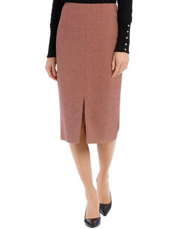 6f71a12027 Basque Small Check Split Front Skirt