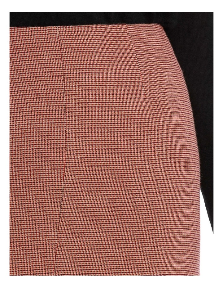 Small Check Split Front Skirt image 4