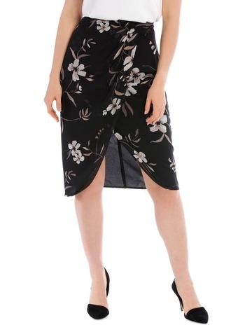 b2243f9bd59 Basque Printed Wrap Skirt