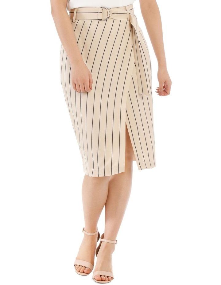 Stripe Linen Blend Skirt image 1