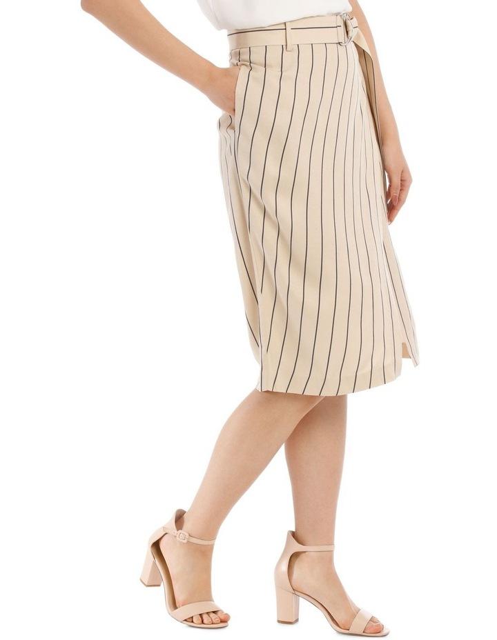 Stripe Linen Blend Skirt image 2