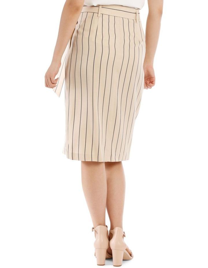 Stripe Linen Blend Skirt image 3