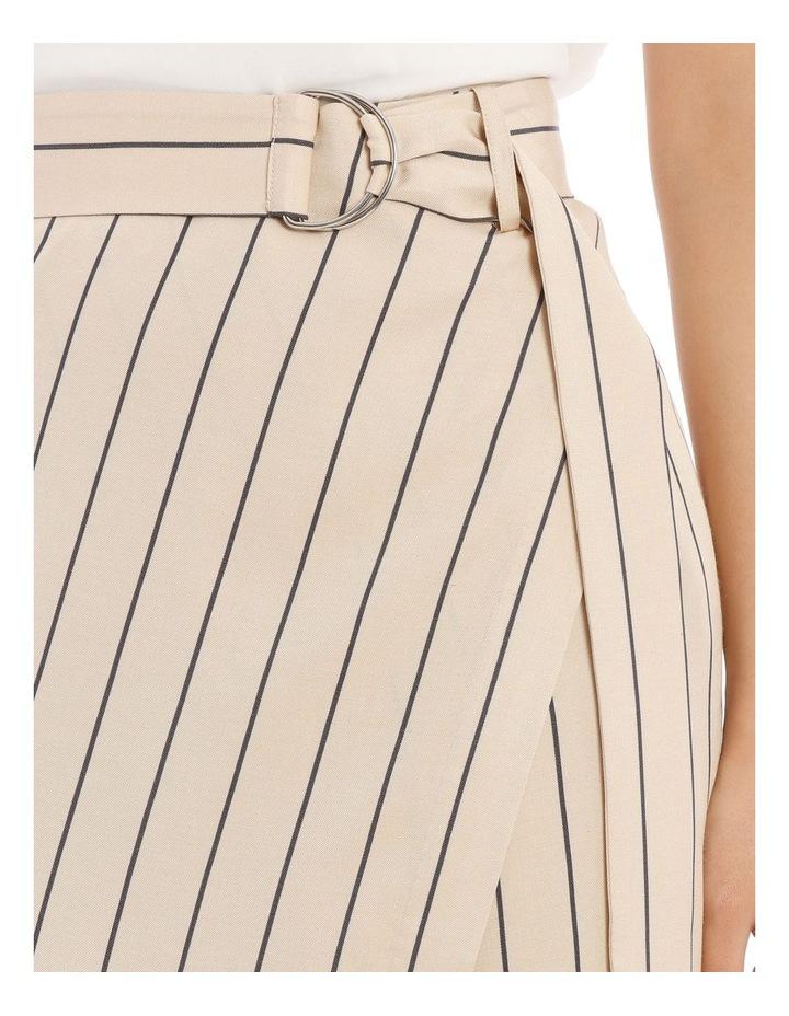 Stripe Linen Blend Skirt image 4