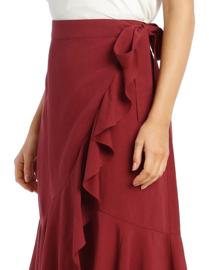 Wrap Linen Skirt image 5