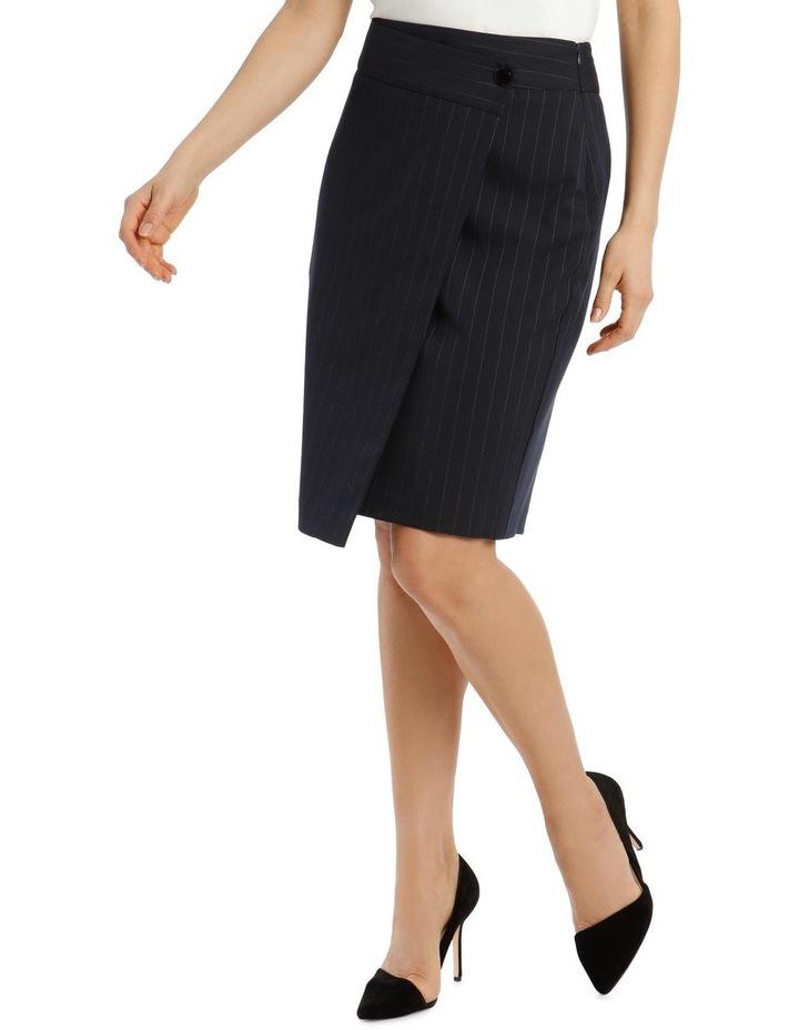 Pinstripe Suit Skirt image 1