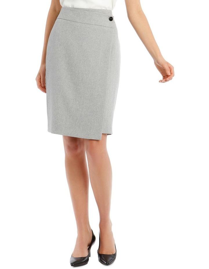 Grey Textured Suit Skirt image 1