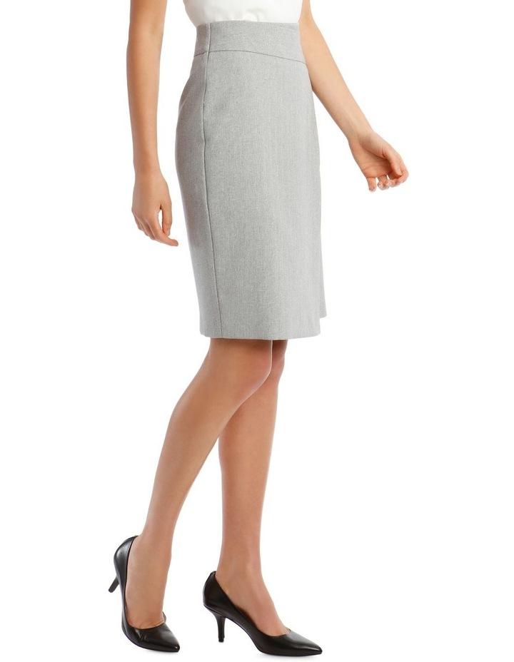 Grey Textured Suit Skirt image 2