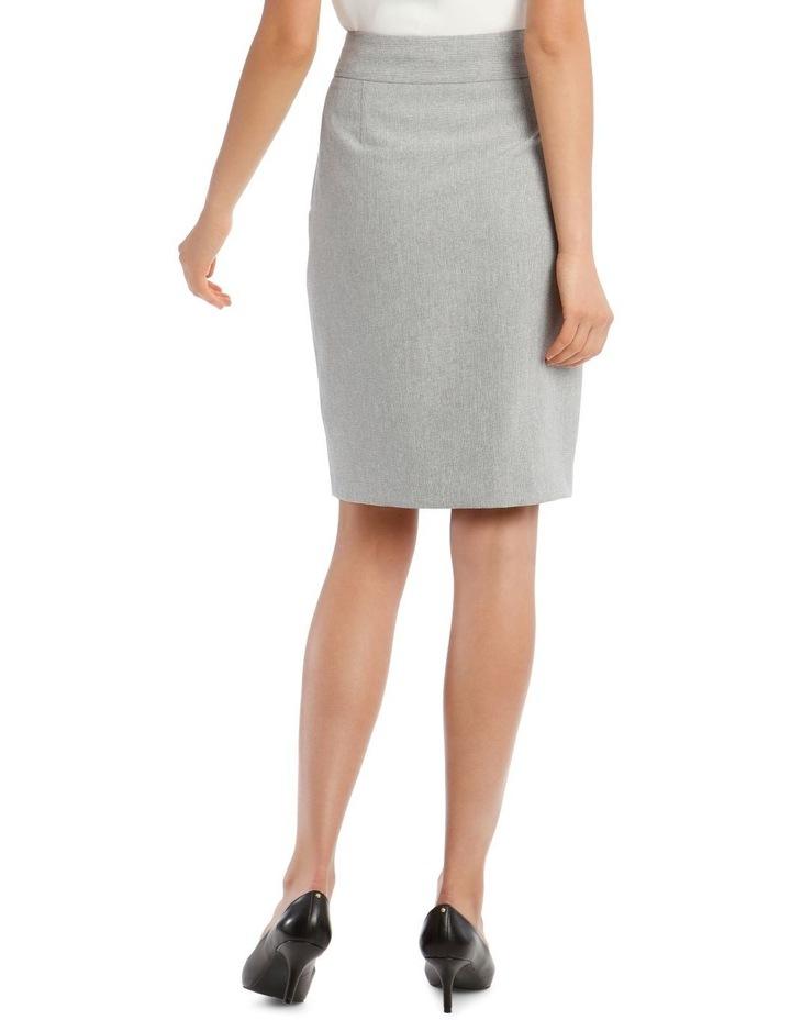 Grey Textured Suit Skirt image 3