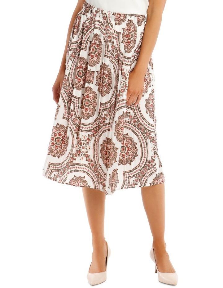 Gathered Vintage Poly Skirt image 1
