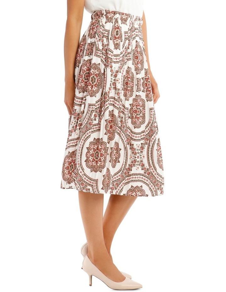 Gathered Vintage Poly Skirt image 2