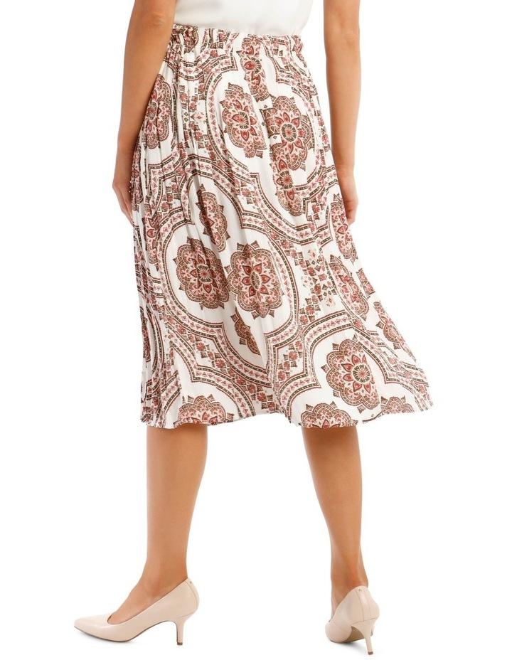 Gathered Vintage Poly Skirt image 3