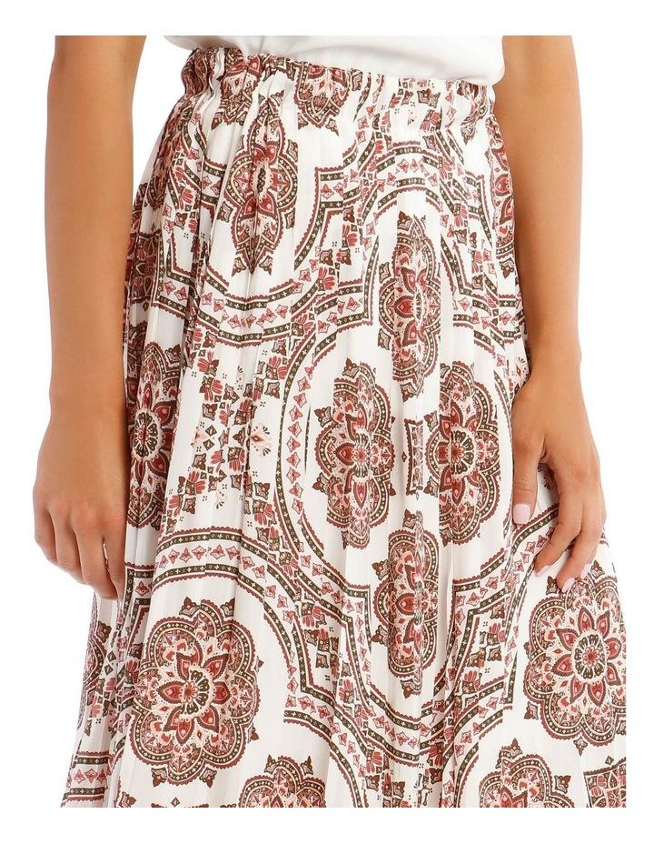 Gathered Vintage Poly Skirt image 4