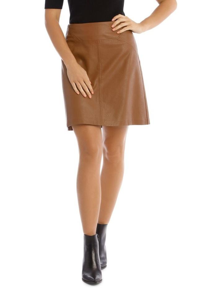 Faux Leather Mini Skirt image 1