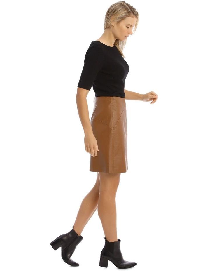 Faux Leather Mini Skirt image 2
