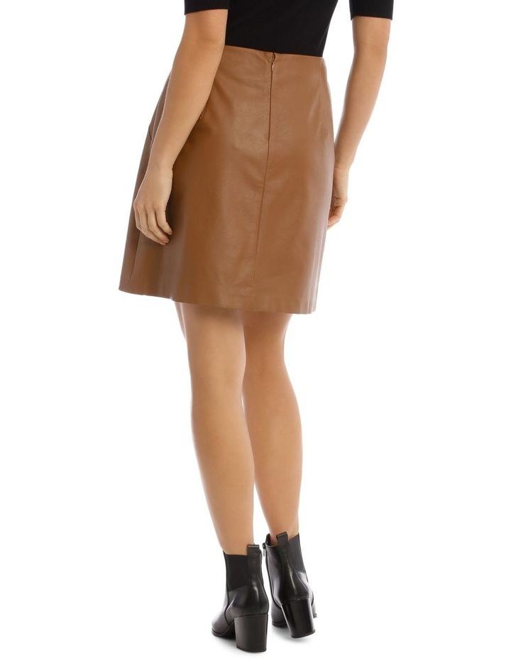 Faux Leather Mini Skirt image 3