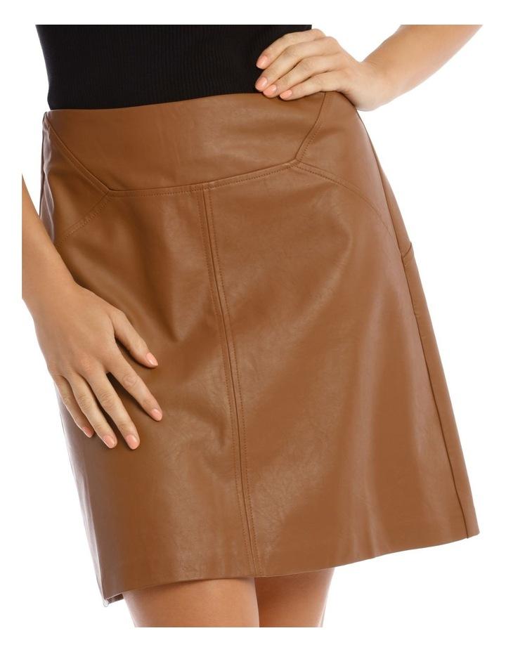 Faux Leather Mini Skirt image 4