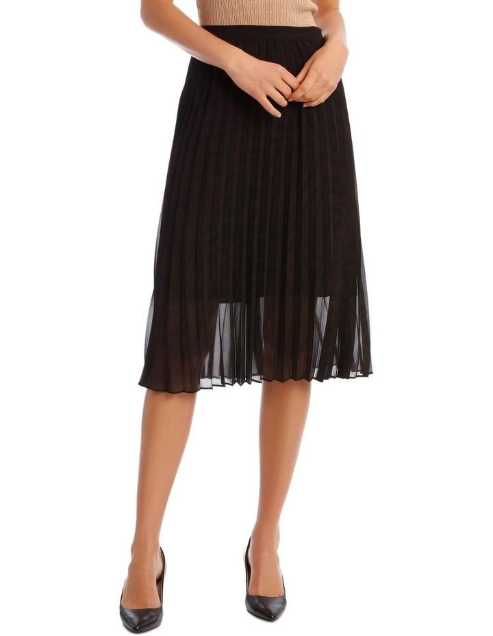 Pleated Zebra Print Skirt image 1