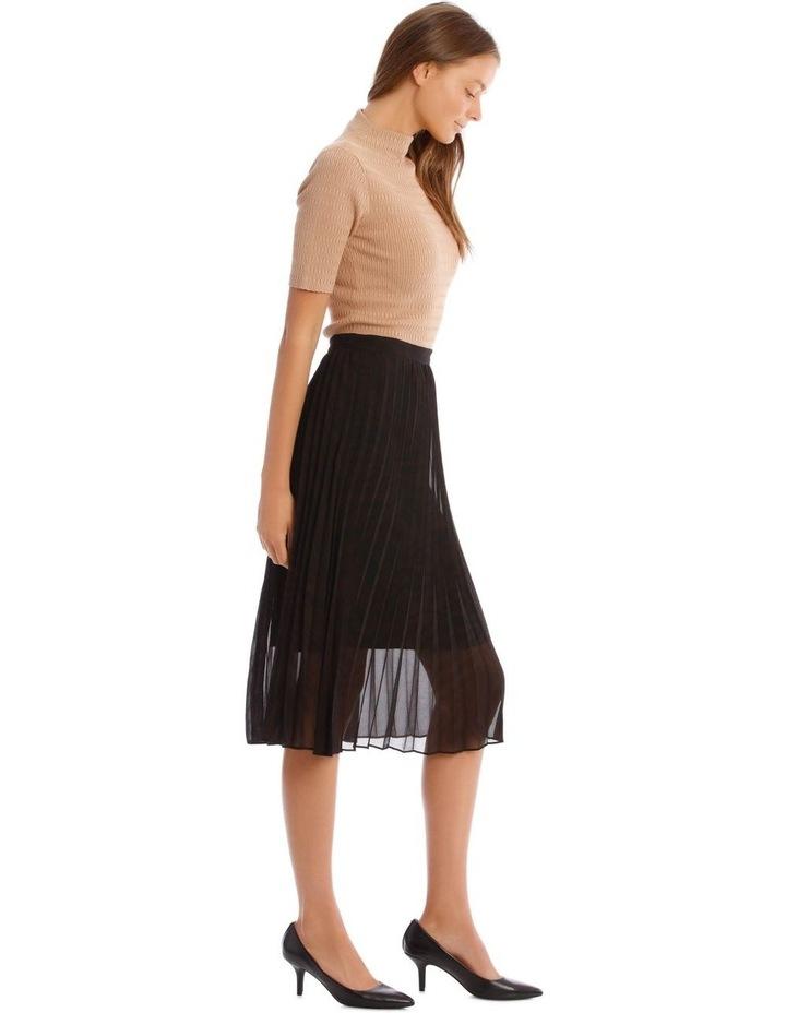 Pleated Zebra Print Skirt image 2