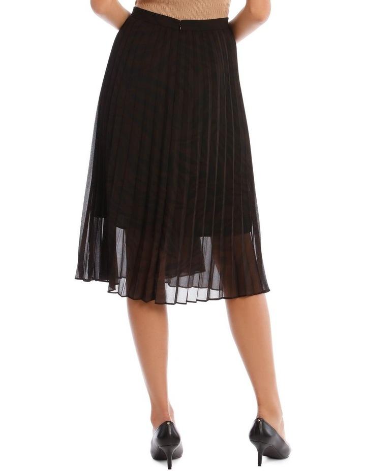 Pleated Zebra Print Skirt image 3