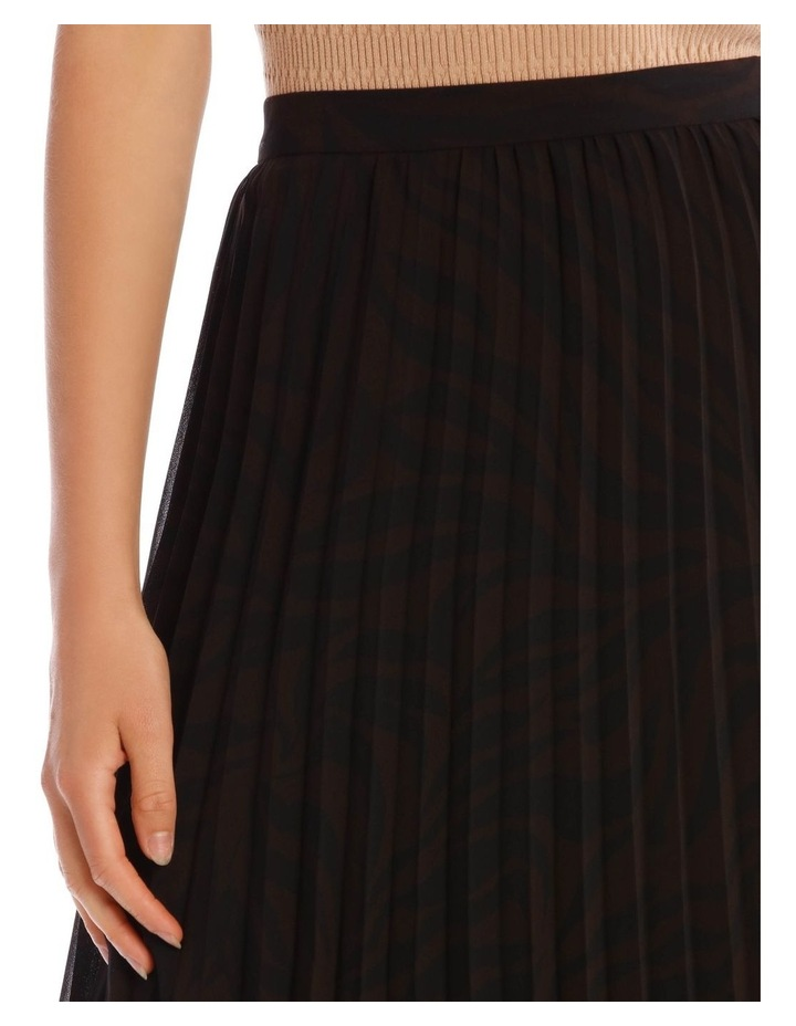 Pleated Zebra Print Skirt image 4