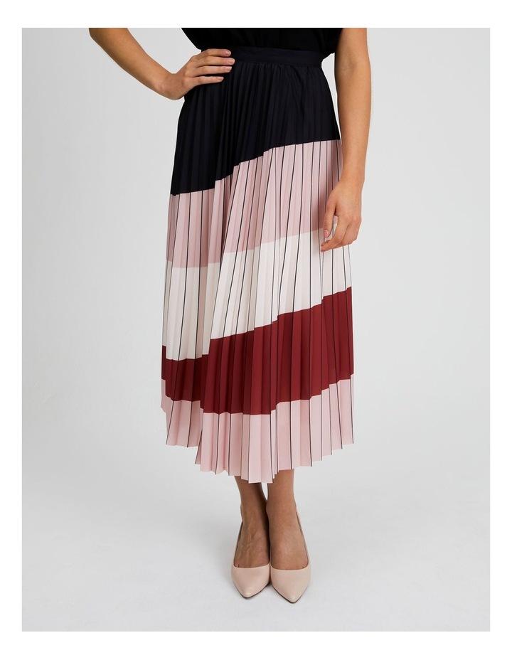 Colour Blocked Pleated Skirt image 1