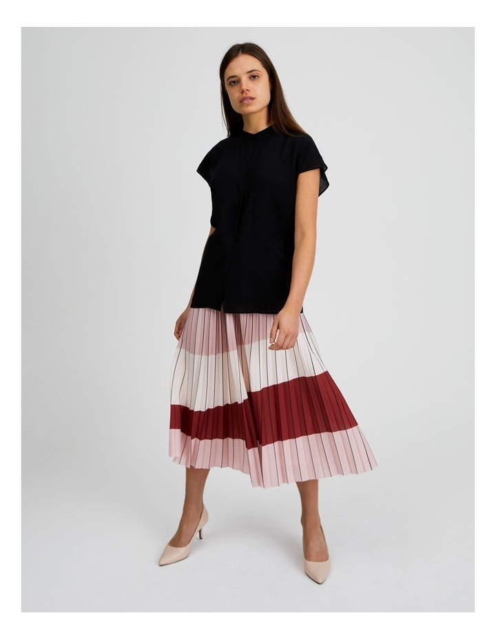 Colour Blocked Pleated Skirt image 2