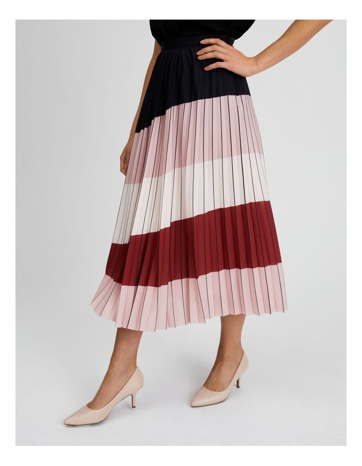 Colour Blocked Pleated Skirt image 3