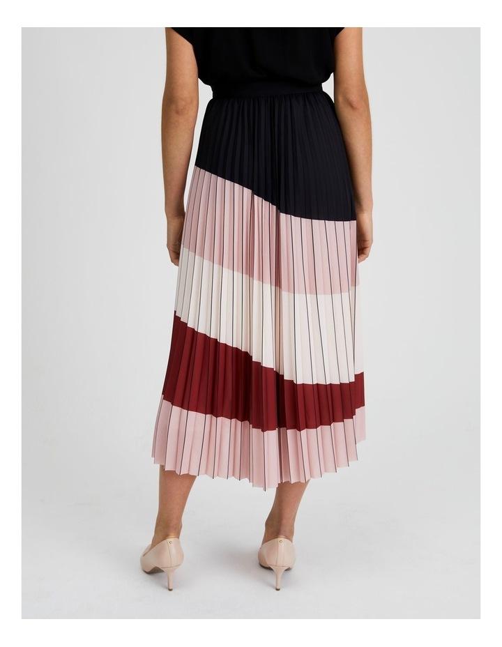 Colour Blocked Pleated Skirt image 4