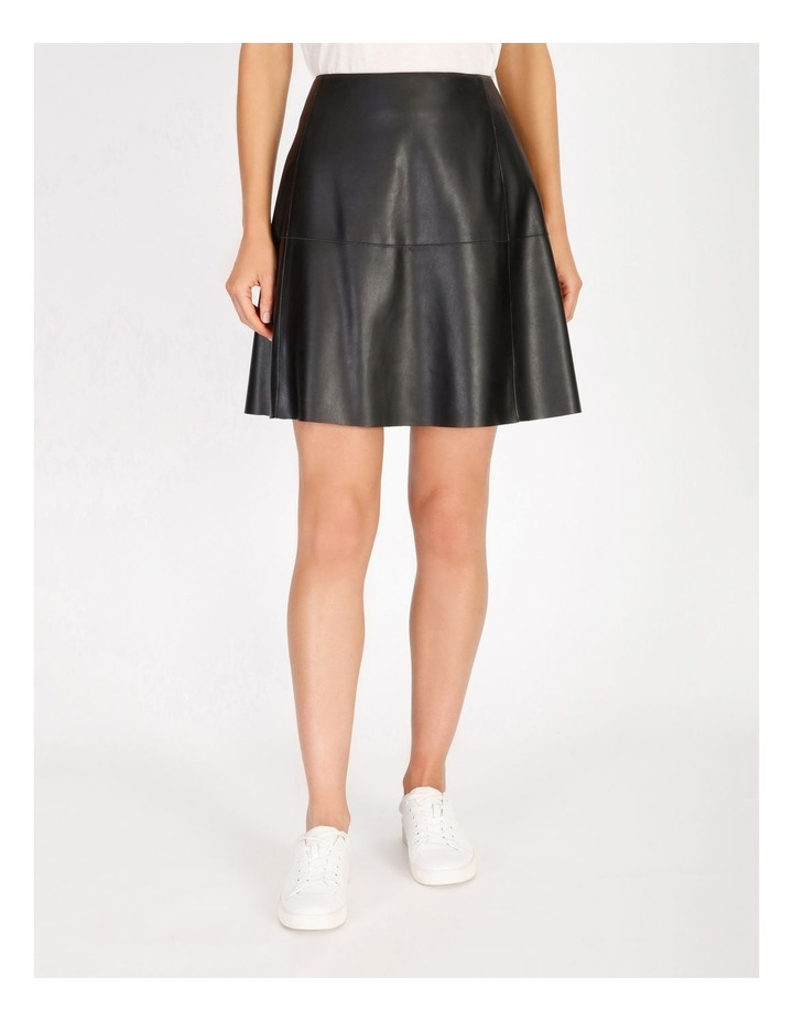 Faux Leather Mini Skirt image 1