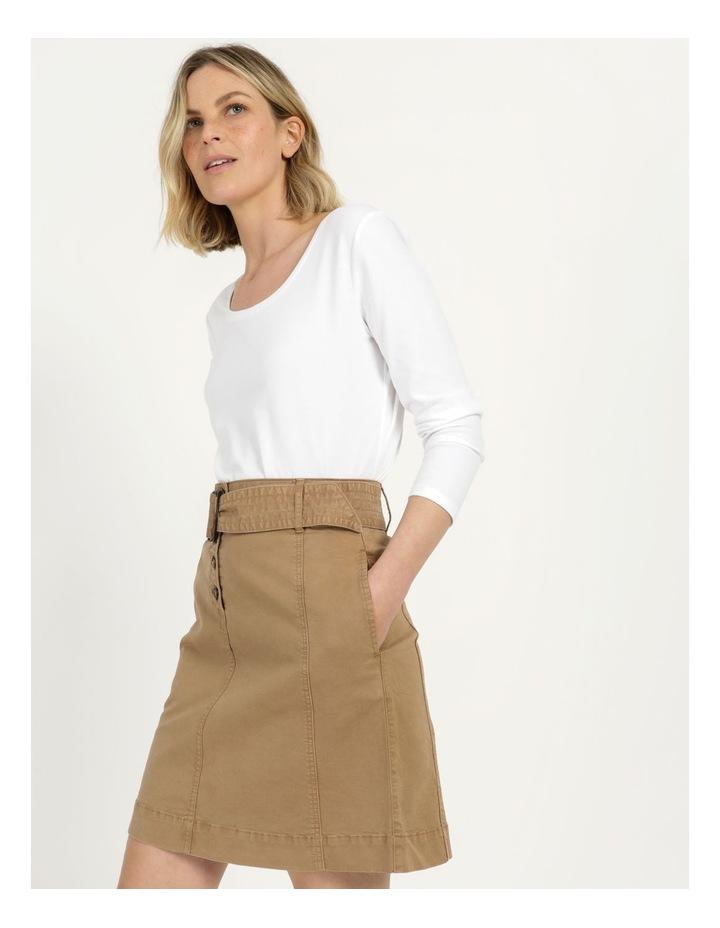 Self Tie Belted Mini Skirt image 1