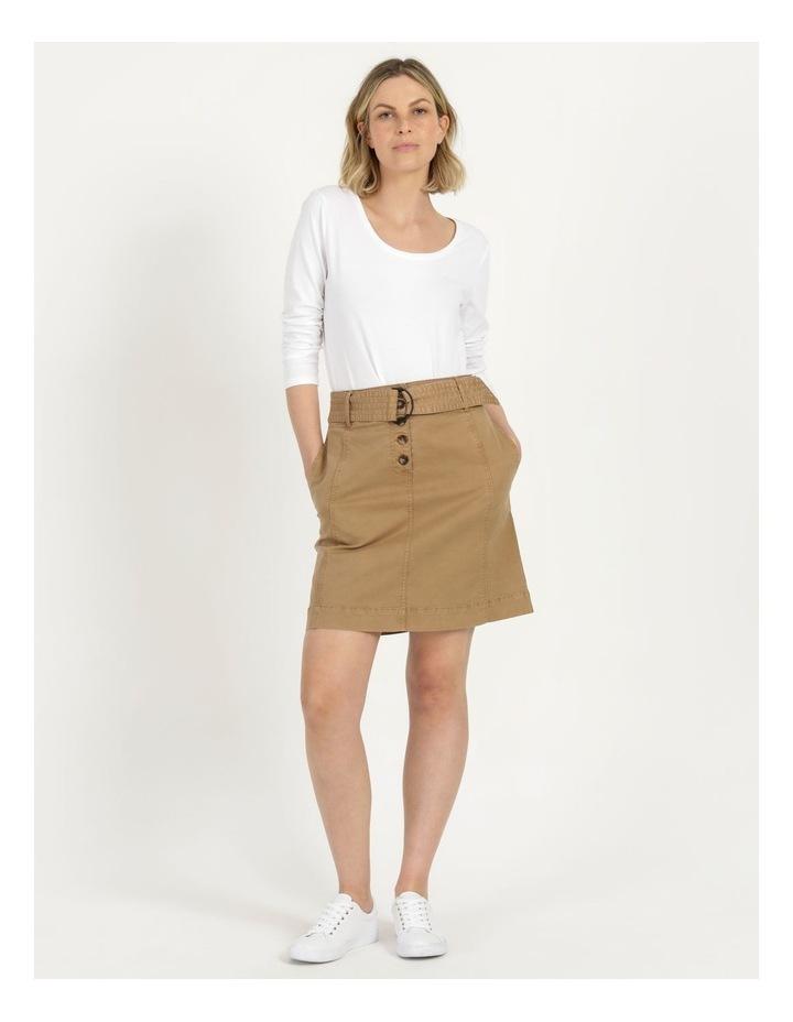 Self Tie Belted Mini Skirt image 2