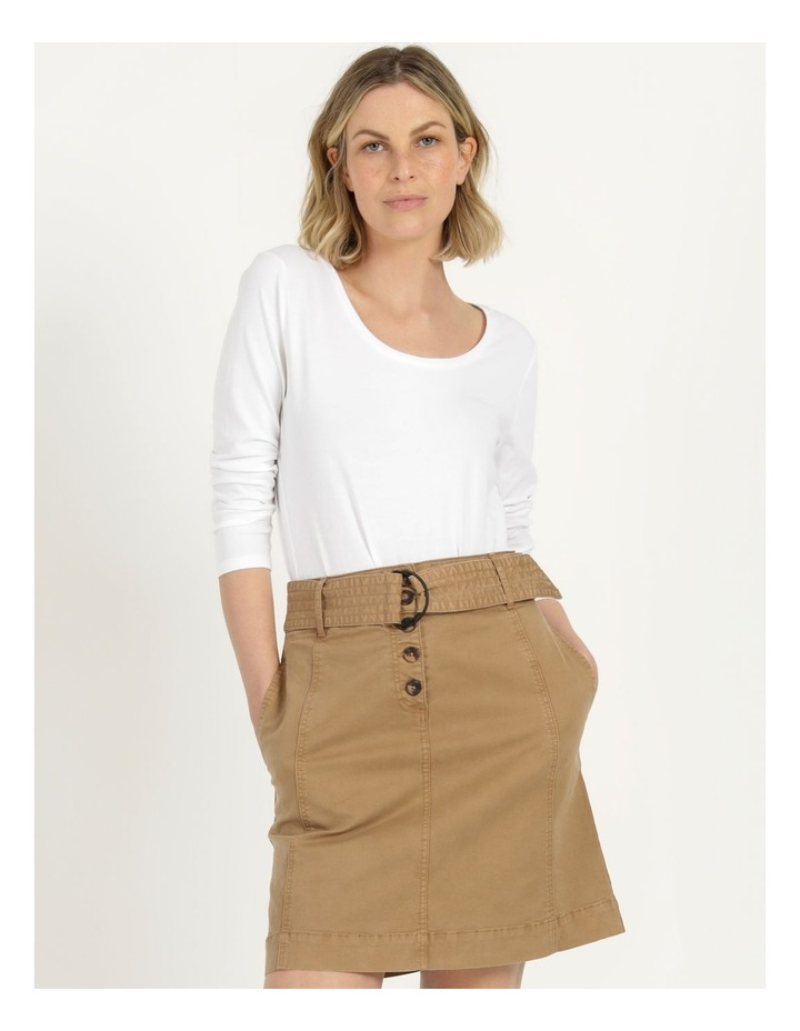 Self Tie Belted Mini Skirt image 3