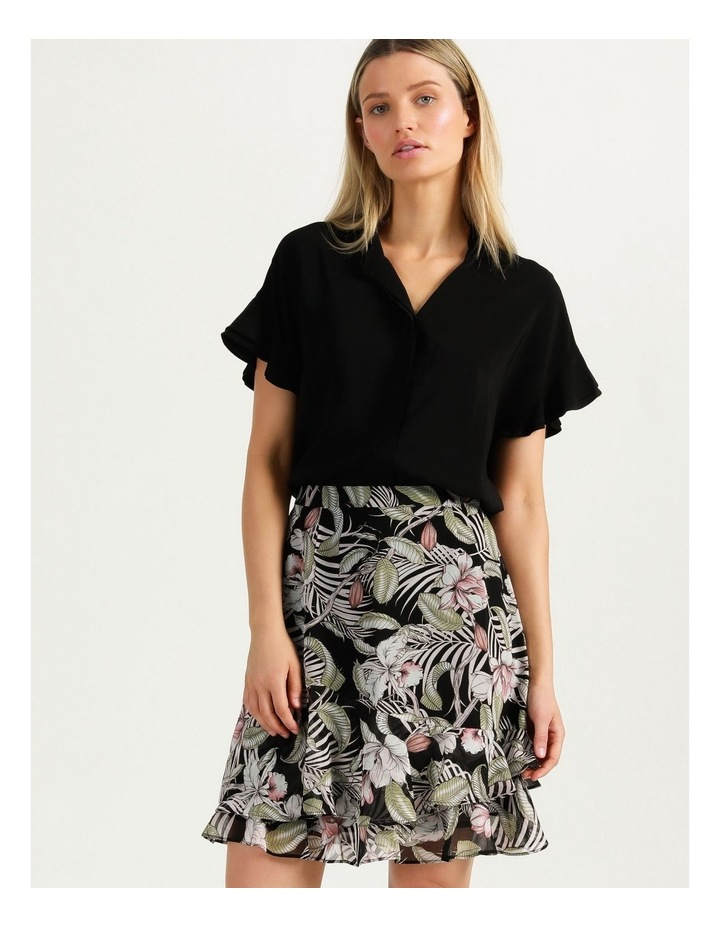 Ruffle Skirt Black Cocoa Floral image 1