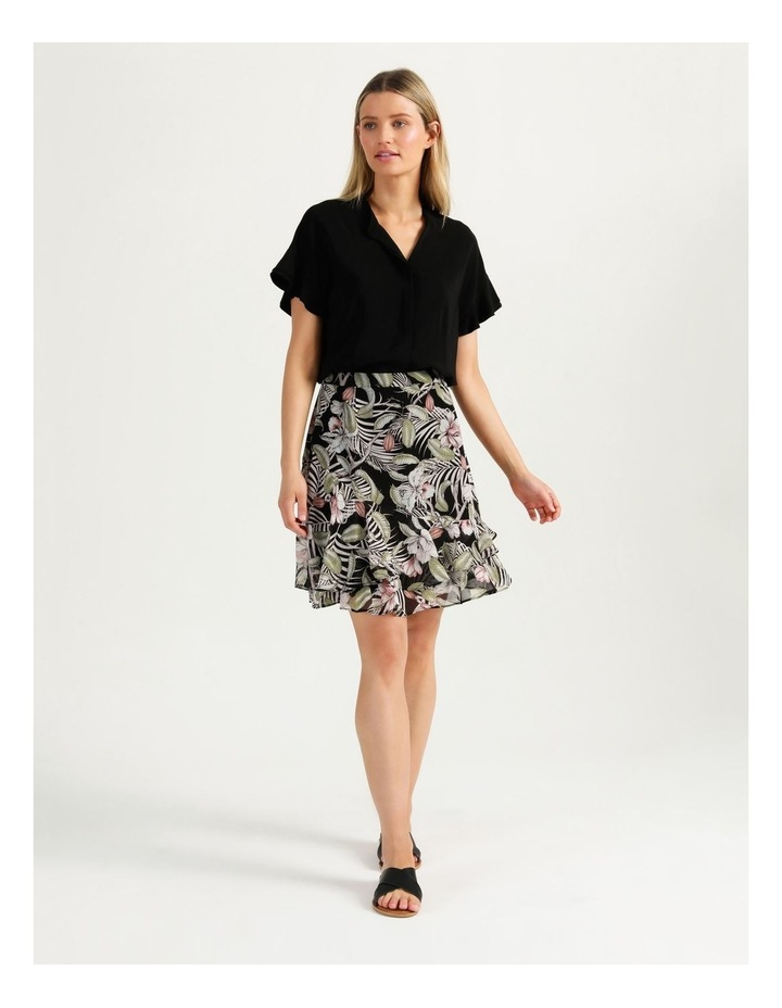 Ruffle Skirt Black Cocoa Floral image 2