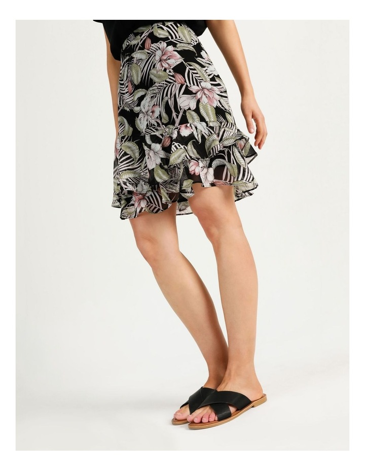 Ruffle Skirt Black Cocoa Floral image 3