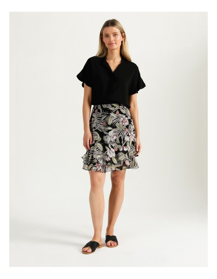 Ruffle Skirt Black Cocoa Floral image 4