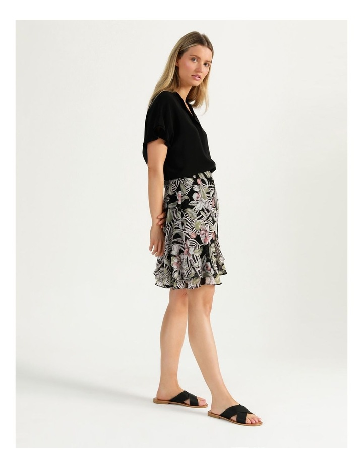 Ruffle Skirt Black Cocoa Floral image 5