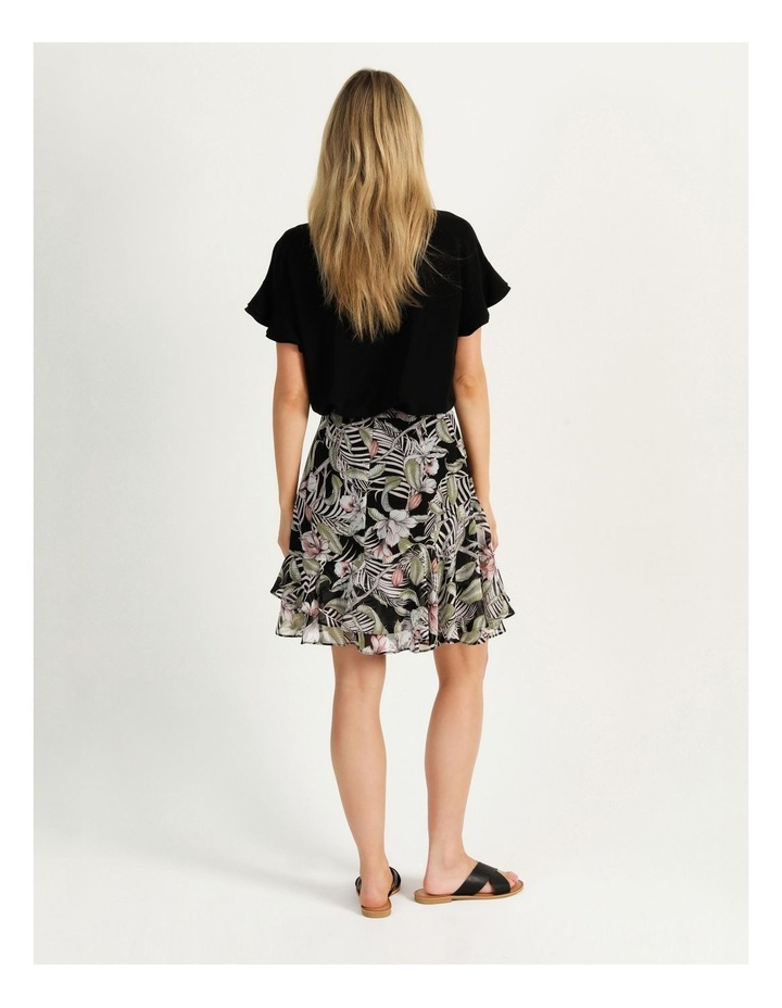 Ruffle Skirt Black Cocoa Floral image 6
