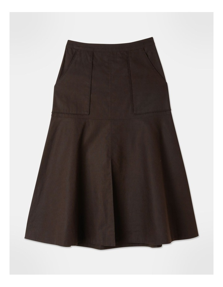 Patch Pocket Split Detail Skirt image 1