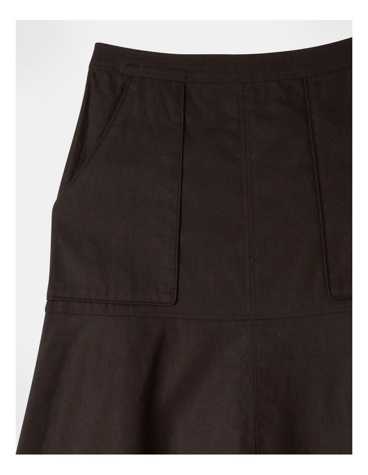 Patch Pocket Split Detail Skirt image 2