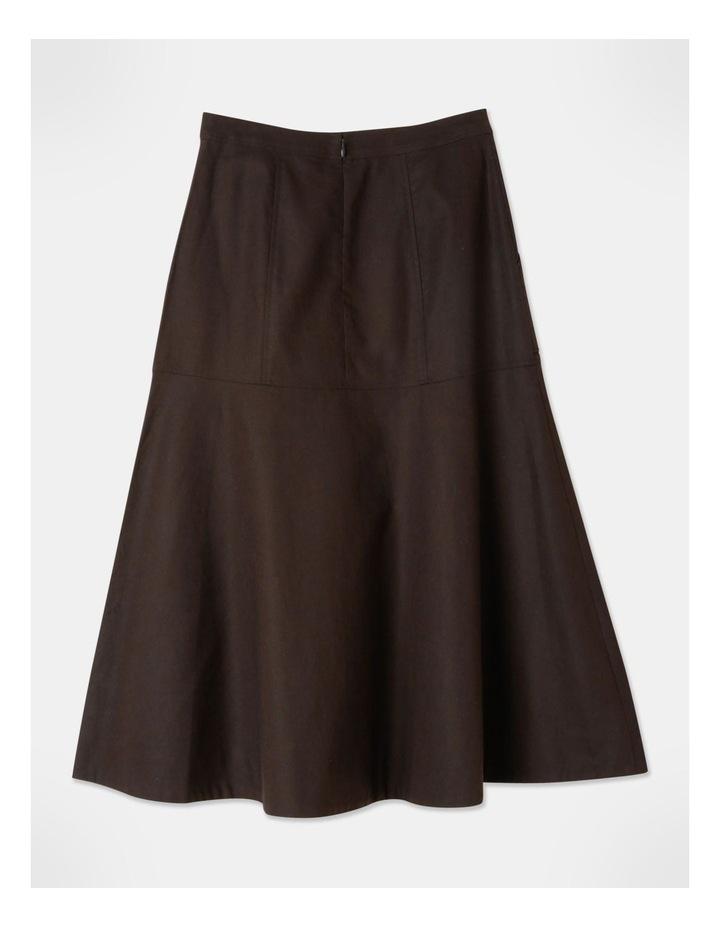 Patch Pocket Split Detail Skirt image 3