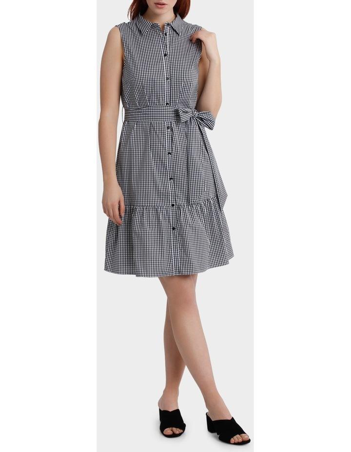 Gingham Ruffle Hem Shirt Dress image 1