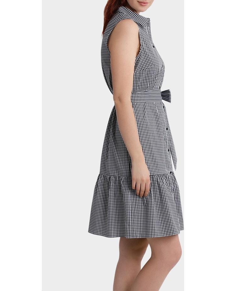 Gingham Ruffle Hem Shirt Dress image 2