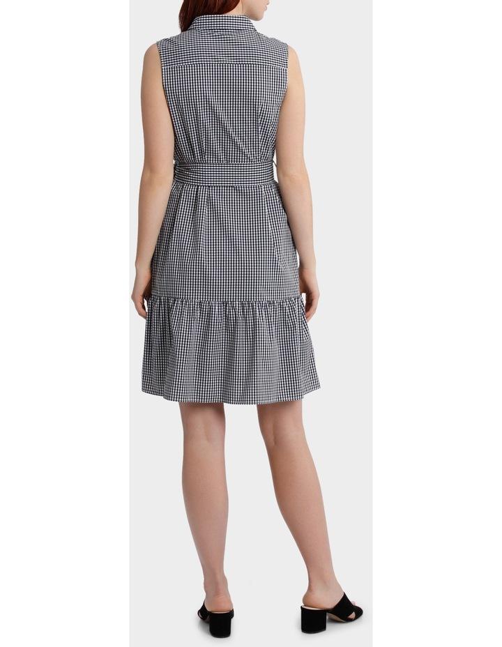 Gingham Ruffle Hem Shirt Dress image 3