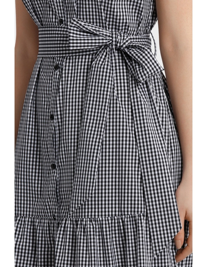 Gingham Ruffle Hem Shirt Dress image 4