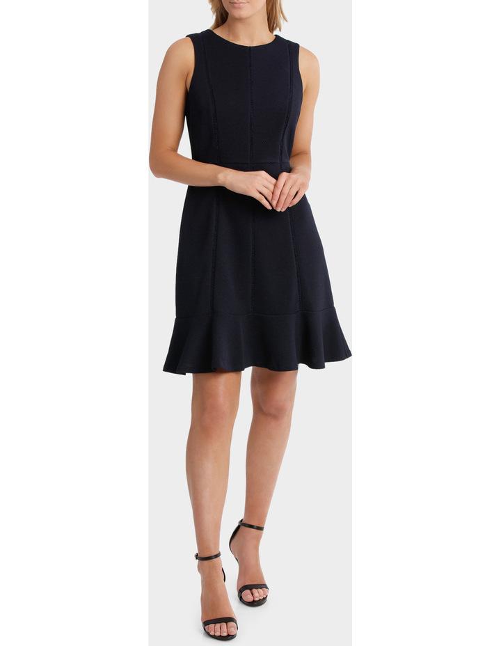 Textured Knit Flip Hem Work Dress image 1