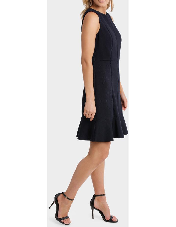 Textured Knit Flip Hem Work Dress image 2